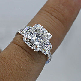Amazing 18k White Gold Engagement Ring with 4.21ct. Diamonds