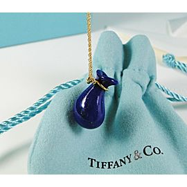 Tiffany & Co. Peretti Lapis Lazuli Open Jug Pendant on 18K Chain