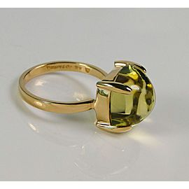 Tiffany & Co. Picasso Large Sugar Stacks Lemon Quartz Ring 18K 8 TCW