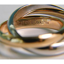 Tiffany & Co. Picasso Calife 2 Band Ring Size 7 Rose Gold White Gold - RETIR