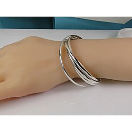 Tiffany & Co. Picasso Melody 5 Band Silver Bracelet Bangle