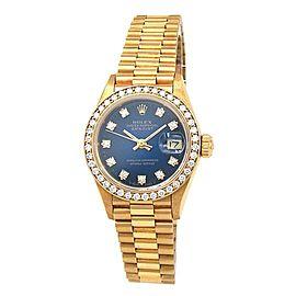Rolex Datejust (L Serial) 18k Yellow Gold Diamond Bezel Automatic Watch 69138