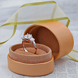 Engagement Ring with Three Cubic Zirconia