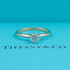 Tiffany & Co Round Diamond 0.40 cts F VS2 Solitaire Engagement Ring 18kt YG Plat