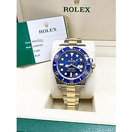 Brand New Rolex Submariner 116613 Blue 18K Yellow Gold & Steel Box & Papers 2019