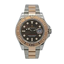 Mens Rolex Yacht-Master Steel & Everose Gold w/ Brown Chocolate Dial 116621