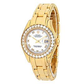 Rolex Datejust (W Serial) 18k Yellow Gold Automatic Ladies Watch 80298