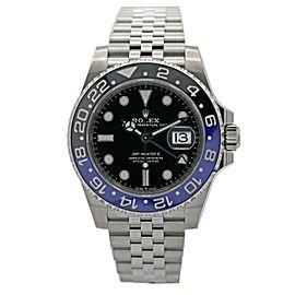 Men's Rolex GMT-Master II Batman 40 Watch w/ Black Dial 126710BLNR