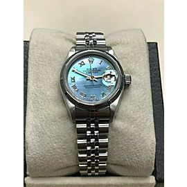 Rolex Ladies Datejust 69160 Blue MOP Dial Stainless Steel