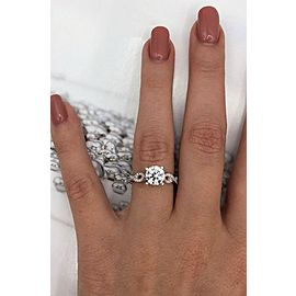 Precious 18k White Gold Engagement Ring with 1.20ct. Diamonds
