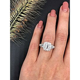 Perfect 14k White Gold Engagement Ring with 2.25ct. Diamonds