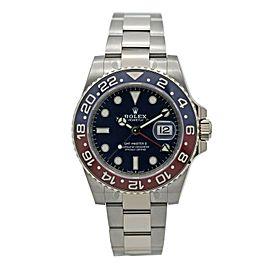 Men's Rolex GMT Master 18k White Gold w/Blue Dial & Pepsi Bezel 126719BLRO-0003