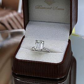 Amazing 18K White Gold Engagement Ring with 5.06ct. Diamonds