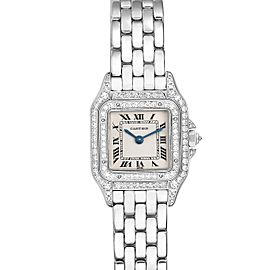 Cartier Panthere 18k White Gold Diamonds Ladies Watch 1660