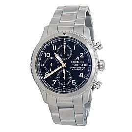 Breitling Navitimer 8 Day Date Stainless Steel Men's Watch Automatic A13314