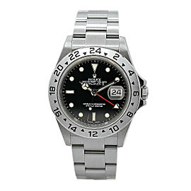 Mens Rolex Explorer II Stainless Steel w/ Black Dial 16517