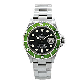 Men's Rolex Submariner Kermit Date Stainless Steel w/ Black Dial 16610LV