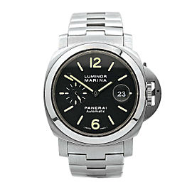 Men's Panerai Luminor Marina Stainless Steel w/ Black Dial PAM00299