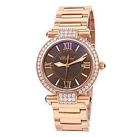 Chopard Imperiale 18k Rose Gold Diamonds Quartz Brown Ladies Watch 384238-5008