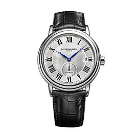 Raymond Weil Maestro 2838-STC-00659 Leather Strap 39.5mm Mens Watch