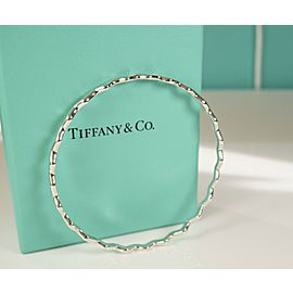 Tiffany & Co. Paloma Picasso Silver Zig Zag Wave Bangle Bracelet Size Large