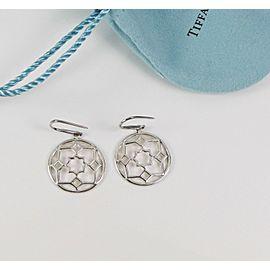 Tiffany & Co. Picasso Silver Zellige Medallion Drop Dangle Earrings