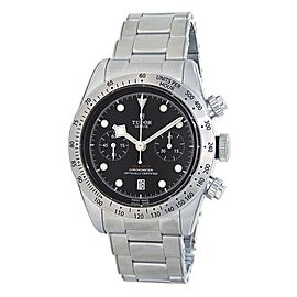 Tudor Heritage Black Bay Stainless Steel Chronograph Black Men's Watch 79350