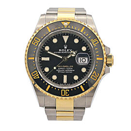 Mens Rolex Sea-Dweller 43, Stainless Steel, 18k Yellow Gold, Black Dial, 126603