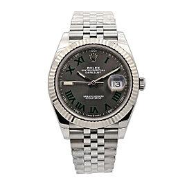Men's Rolex Datejust II 41 Steel, 18k white gold, Green Slate Dial, 126334