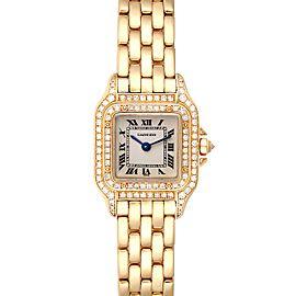 Cartier Panthere 18k Yellow Gold Diamonds Ladies Watch WF3072B9