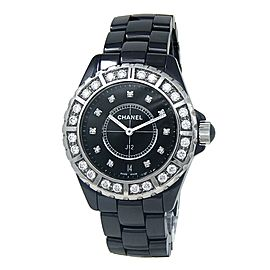 Chanel J12 Black Ceramic Women's Watch Automatic H2428