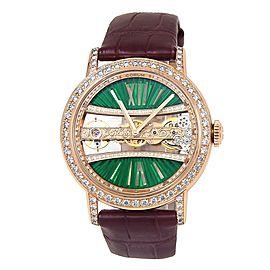 Corum Golden Bridge Round 18k Rose Gold Diamonds Manual Men's Watch B113/03168