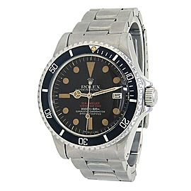 Rolex Vintage Double Red Sea-Dweller Stainless Steel Men's Watch Automatic 1665