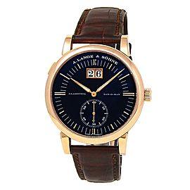 A.Lange & Sohne Grand Langematik 18k Rose Gold Leather Black Men's Watch 309.031