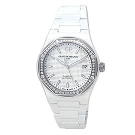 Girard Perregaux Laureato Ceramic Diamonds Silver Ladies Watch 81005D82A732-32A