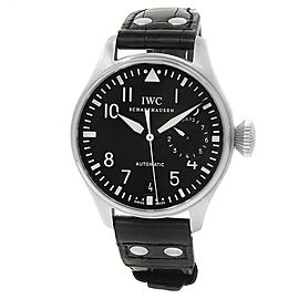 IWC Big Pilot's Stainless Steel Leather Automatic Black Men's Watch IW500901