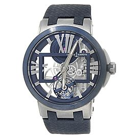 Ulysse Nardin Executive Skeleton Toubillon Titanium Blue Mens Watch 1713-139/43