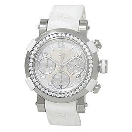 Romain Jerome Arraw Marine Titanium Auto Silver Watch 1M42C.TTTR.2520.RB.1101