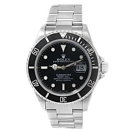 Rolex Submariner Stainless Steel Oyster Automatic Black Men's Watch 16610T