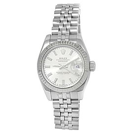 Rolex Datejust Stainless Steel Jubilee Automatic Silver Ladies Watch 179174