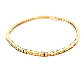 5 Cts - Sapphire Tennis Bracelet - 18K Yellow Gold - Diamond
