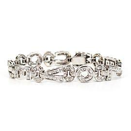 "5 ctw Diamond Bracelet - ""WE LOVE YOU"" - 14K White Gold - White Diamonds"
