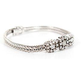 Art Deco Style 3 ctw Diamond Bracelet - 18K White Gold