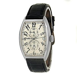 Franck Muller Master Banker Stainless Steel Leather Silver Men's Watch 5850 MB