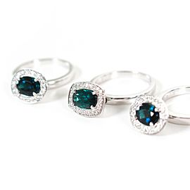 Sonia Bitton - Set of 3 Rings - 18K White Gold - Tourmaline Diamond - US 6.5