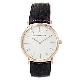 Girard Perregaux Classique Elegance 18k Rose Gold Silver Watch 47620-0-52-111