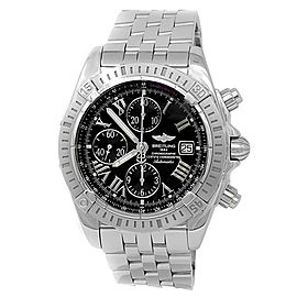 Breitling Chronomat Evolution Stainless Steel Automatic Black Men's Watch A13356