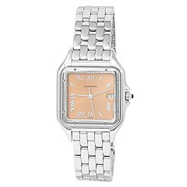 Cartier Panthere 18k White Gold Quartz Salmon Ladies Watch 1650