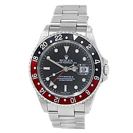 Rolex GMT-Master II Coke Stainless Steel Oyster Auto Black Men's Watch 16710