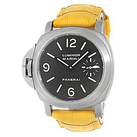 Panerai Luminor Marina Titanium Leather Manual Brown Men's Watch PAM00056